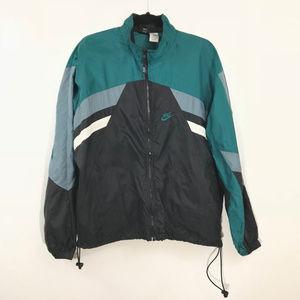 MENS VINTAGE NIKE GREEN BLACK Windbreaker Jacket